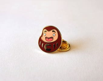 Gold plated Daruma doll Pin