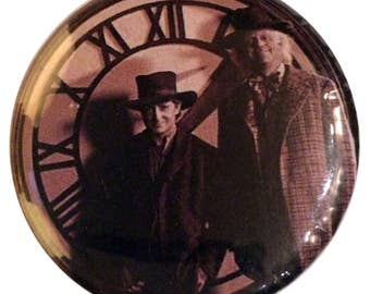 """Badge back to the future #1 - """"1885 clock picture"""""""