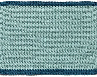 Handmade Crocheted Placemats Light Blue & Blue