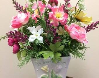 Appreciation Flower Arrangement, Silk Arrangement, Gift, Flower Arrangement, Thank you, Thank you Arrangement