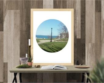 lamppost image, digital download, instant download, digital print, New England, Main