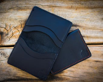 Leather handmade cardholder wallet