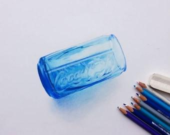 Coca Cola Glass Drawing
