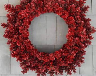 Pinecone Wreath Berry Red/Christmas Wreath