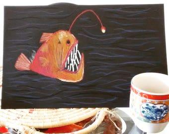 Pastel anglerfish