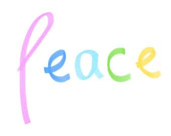 Peace - A4, print, quote, word, typography, wall art, minimalist