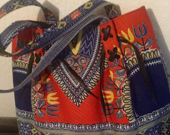 Large Ankara print bag