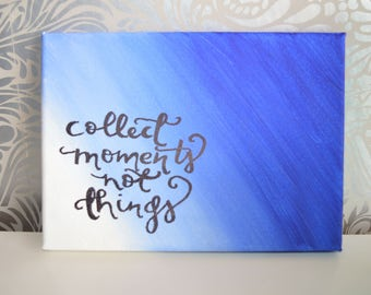 Canvas inspirational quote, wall art, home decor, quote on canvas