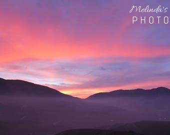 Lovely sunset, photography print, Landscape photography, Sunset photography