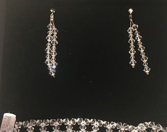 Bridal swarovski set brancalet and earrings