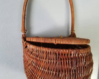 Wicker Basket / Wicker Plant Holder / Hanging Basket