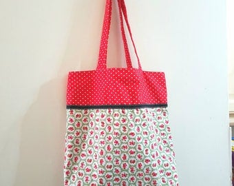 Handmade Large Tote Shopping Bag Reversible Womens Gift