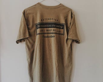 """John Muir """"Mountains are Calling"""" Faded Tee"""