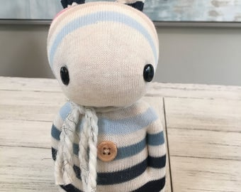 Striped handmade sock rabbits