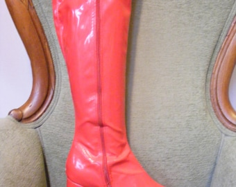 Women's Go Go Boots Red Size 5