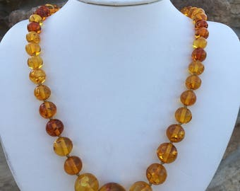 Amber Beaded Necklace.