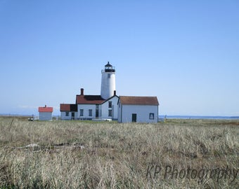 Pacific Northwest Lighthouse Blank Photo Card