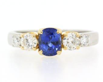 Sapphire Diamond & Gold Ring
