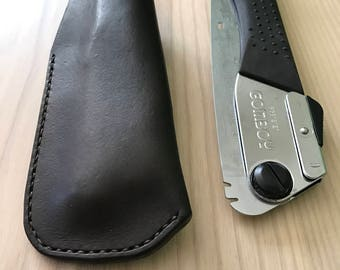 Hand made leather sheath for silky Gomboy 210