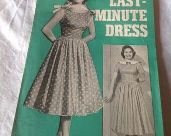 1950 s dress pattern, unused - 1955 bust  34