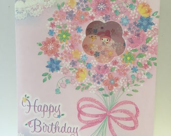My Melody Birthday Card with envelope
