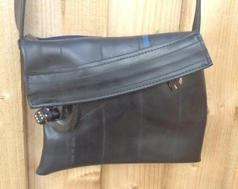 Small handbag, waterproof bag, cross body bag, shoulder bag, day bag, Ladies bag made from recycled rubber inner tubes