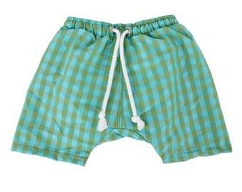 Puuper swim diaper bad diaper Leander green blue checkered