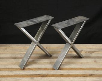 Steel Bench Legs, Coffee Table Legs, Metal legs, Square Bench Base, Coffee Table Base,  SET(2)