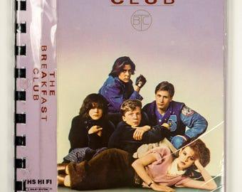 Recycled VHS Original Movie Box Notebook Sketchbook - The BREAKFAST CLUB