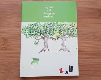 Green Tree Small A6 Notebook Journal