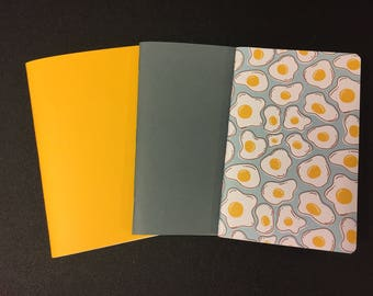 Traveler's Notebook Pocket Size  Inserts Fried Eggs