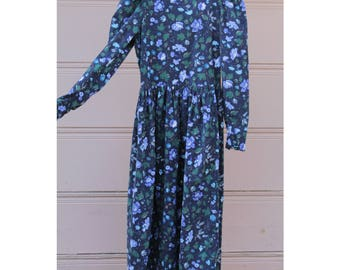 Vintage Laura Ashley corduroy floral dress NWT
