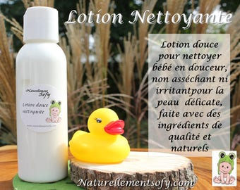 Gentle cleansing lotion for baby