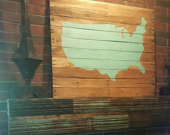 America Silhouette Pallet Sign