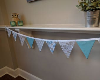 Fabric Banner, Bunting Banner, Party Decoration Banner, Nursery Fabric Banner, Boy's Nursery Fabric Banner, Baby Shower Banner, Baby Shower