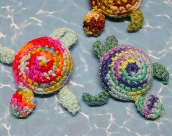 Sea Turtle handmade crocheted catnip filled cat toy! Cole and Marmalade a-purr-oved =)