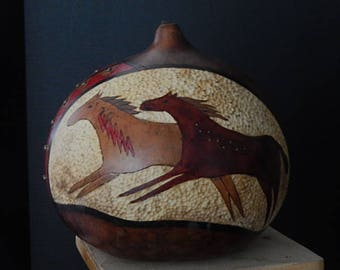 Hand Painted Decorative Gourd Art