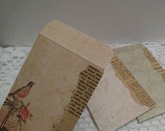 4 pcs, Handmade envelopes, mini envelopes