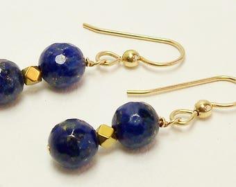Lapis Lazuli Earrings, Lapis Earrings, Handmade Jewelry, Lapis Lazuli Jewelry, Semiprecious Jewelry, Blue Earrings, Gemstone Jewelry