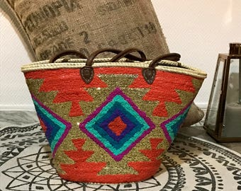 Original Beach design sequins basket
