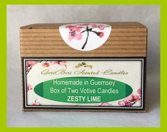 Zesty Lime Box of TWO Votive Candles