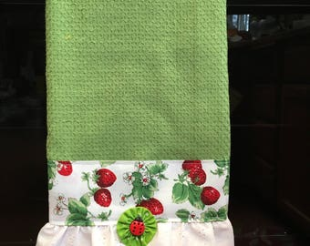 Custom made decorated kitchen towels
