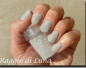 Fun Flocking Powder Manicure Nail Art Nail Polish- Gray