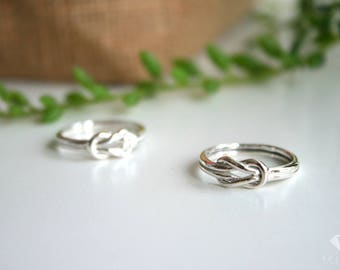 Love Knot Ring sterling silver 92.5%