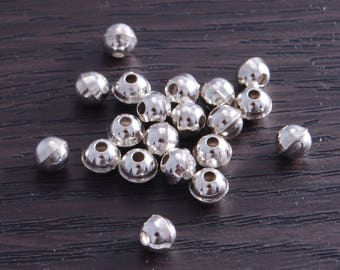 Sterling Silver Bench Made Beads 5mm (pack of 10 beads) DB4A Sterling Silver Bench Made Beads 5mm (pack of 10 beads) DB4A