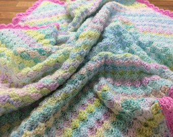 Rainbow Drops Baby Blanket