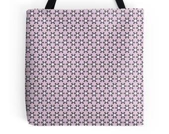 Pink Tote Bag, Geometric tote bag, market shopper, tote bag, geometric print, shopping bag, tote shopper, market bag, pink geometric Bag