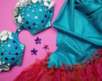 DIY Mermaid Costume Kit For 5