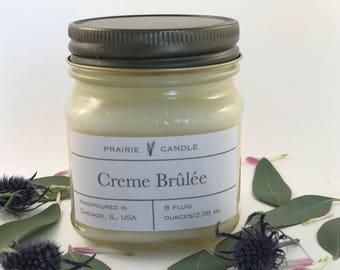 Creme Brûlée soy candle, toasted vanilla candle, sweet caramel candle