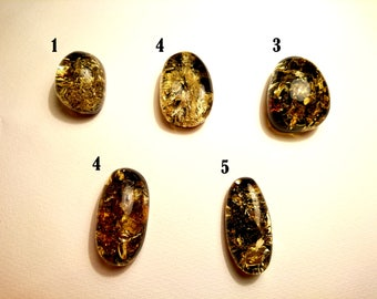 """Natural Baltic Amber Cabochons """"Earth"""" Loose Pieces Sold By Piece (Info in description)"""